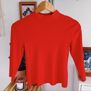 Wild Fable Red Turtleneck Top